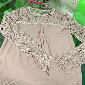 Nude Laced Blouse